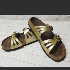 Birki's by Birkenstock Moorea Metallic Gold Sandal